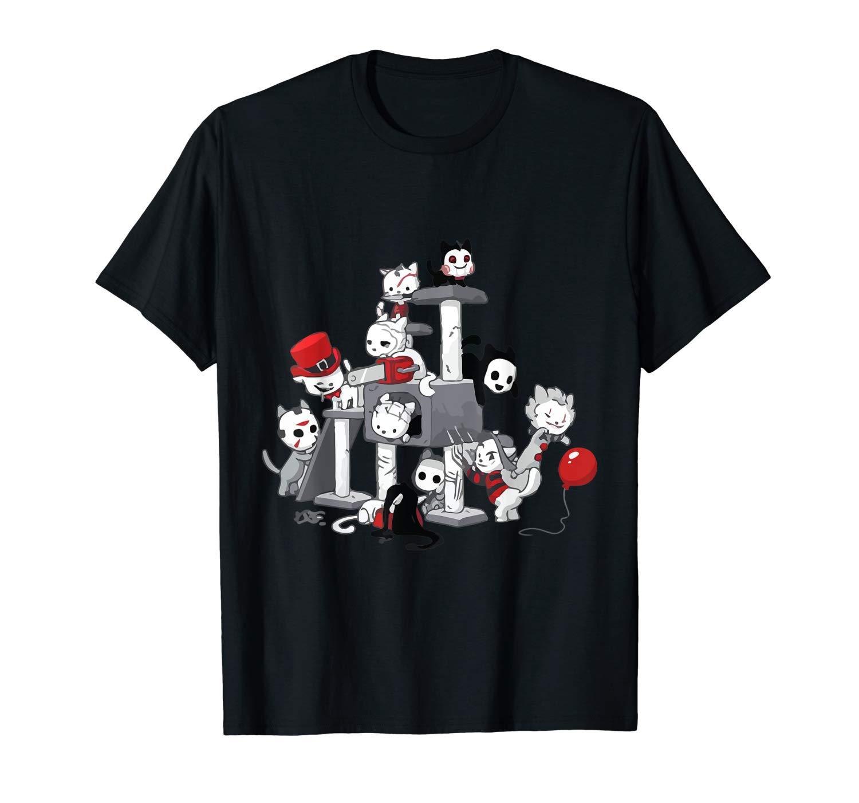 I Love Cats Horror Kitties Halloween T Shirt