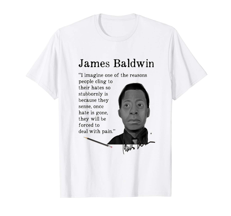 James Baldwin Autograph Quote Shirts