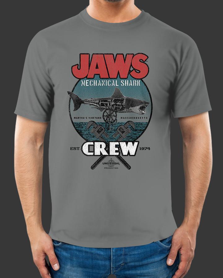 Jaws Mechanical Shark Crew Shirts