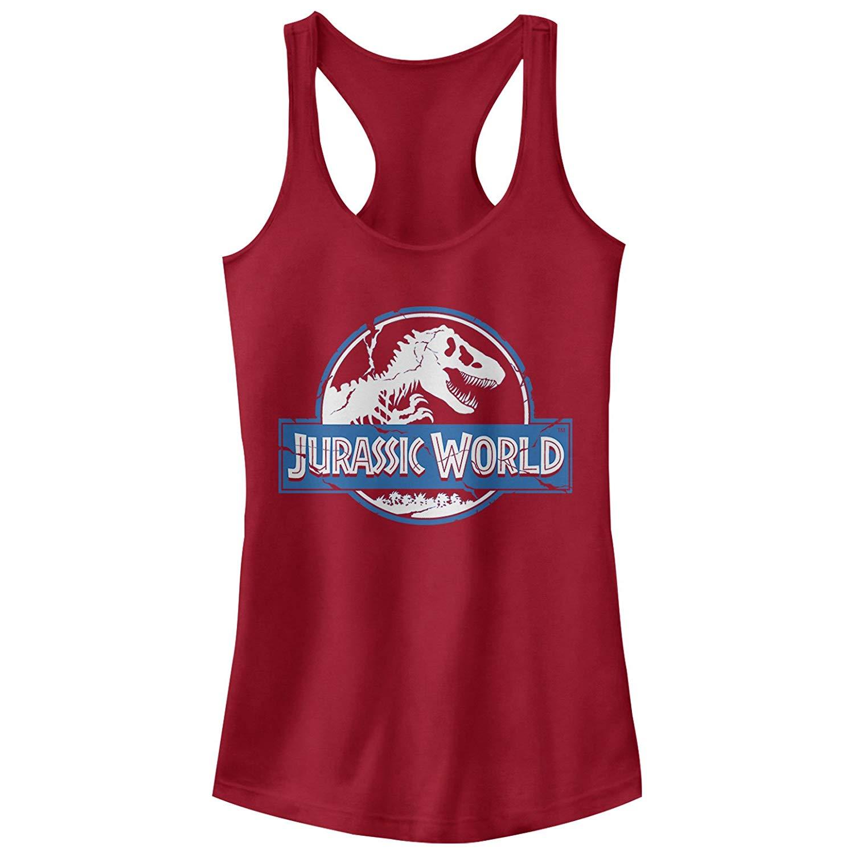 Jurassic World Fallen Kingdom Cracked Logo Racerback Tank Top Shirts