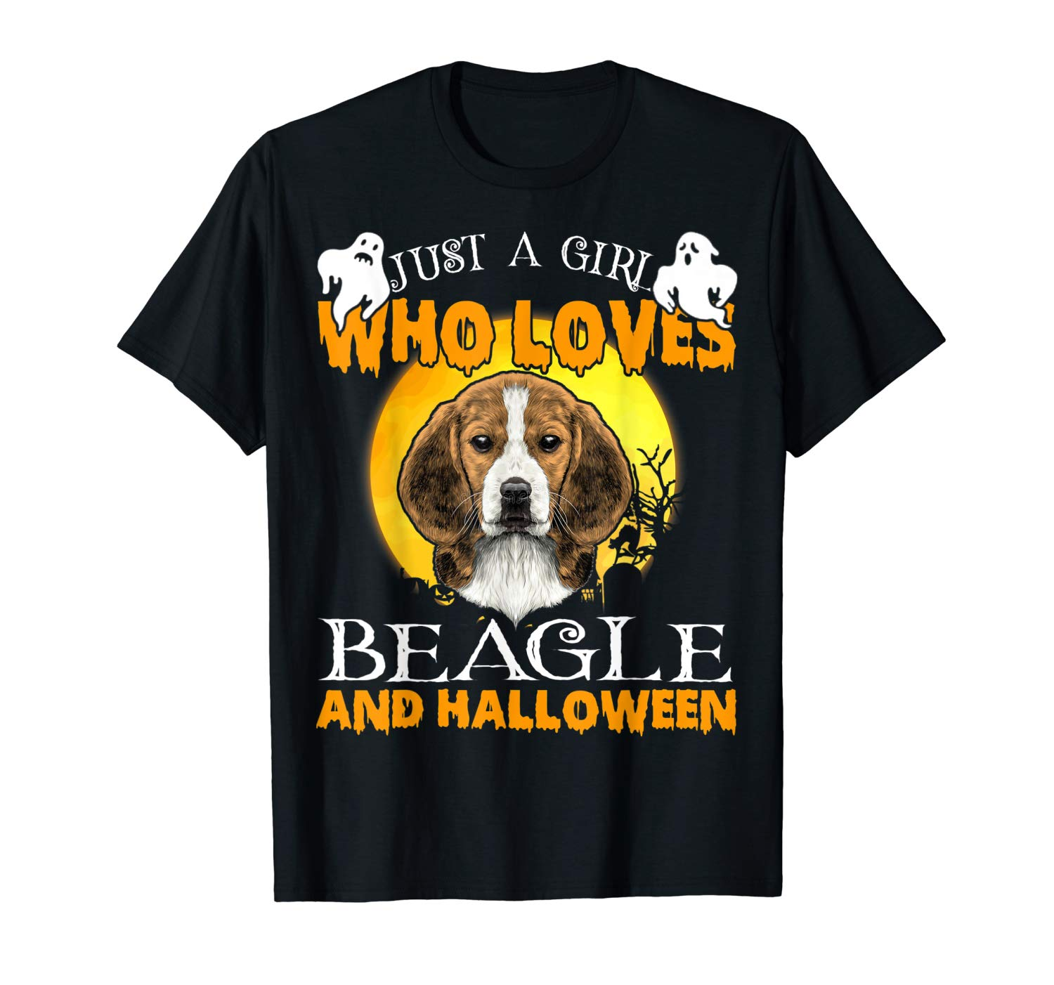 Just A Girl Love Beagle And Halloween Dog Lover Gift T Shirt