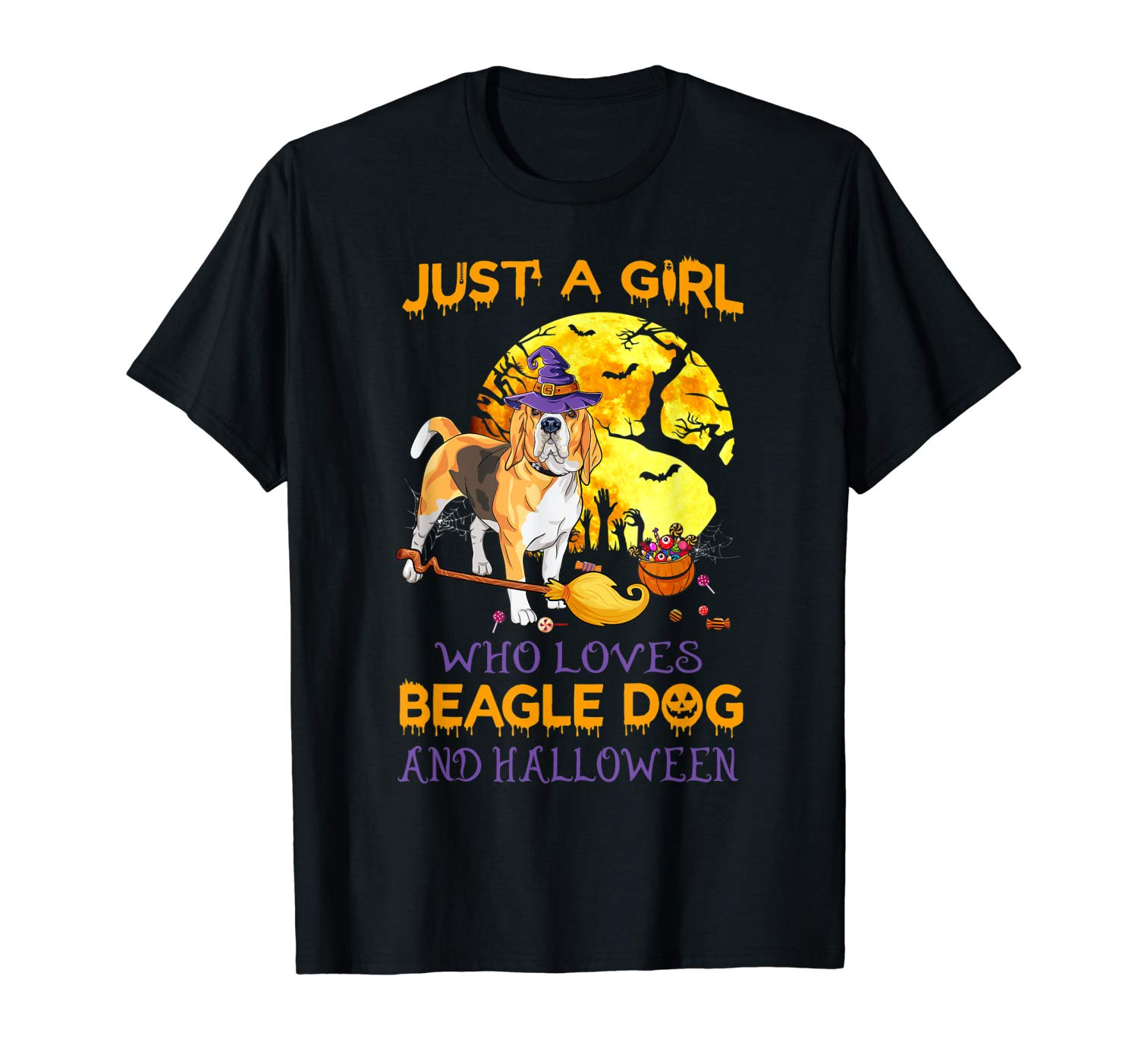 Just A Girl Who Loves Beagle And Halloween Love Dogs Gifts T Shirt