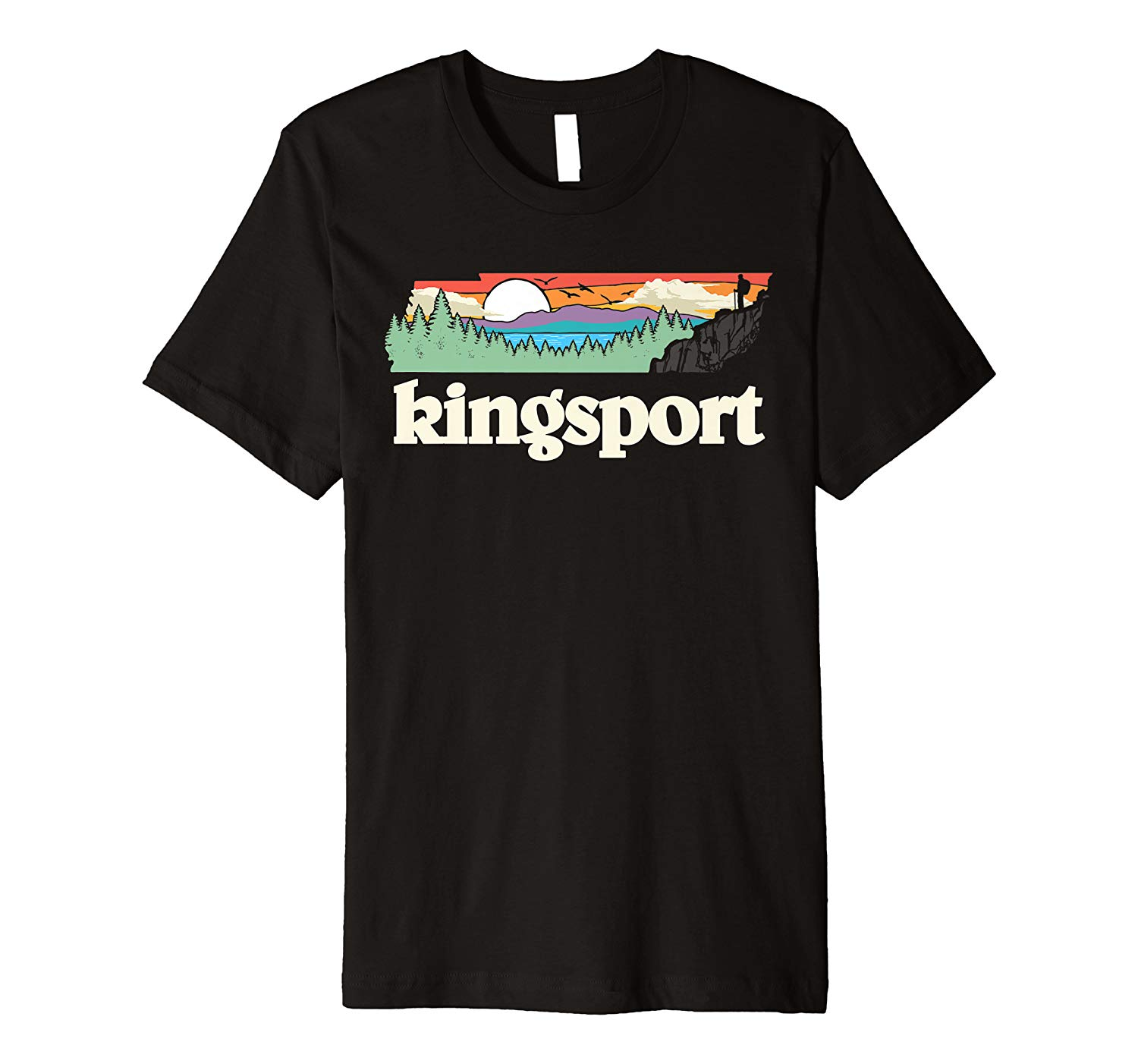 Kingsport Tennessee Outdoors Retro Nature Graphic Shirts