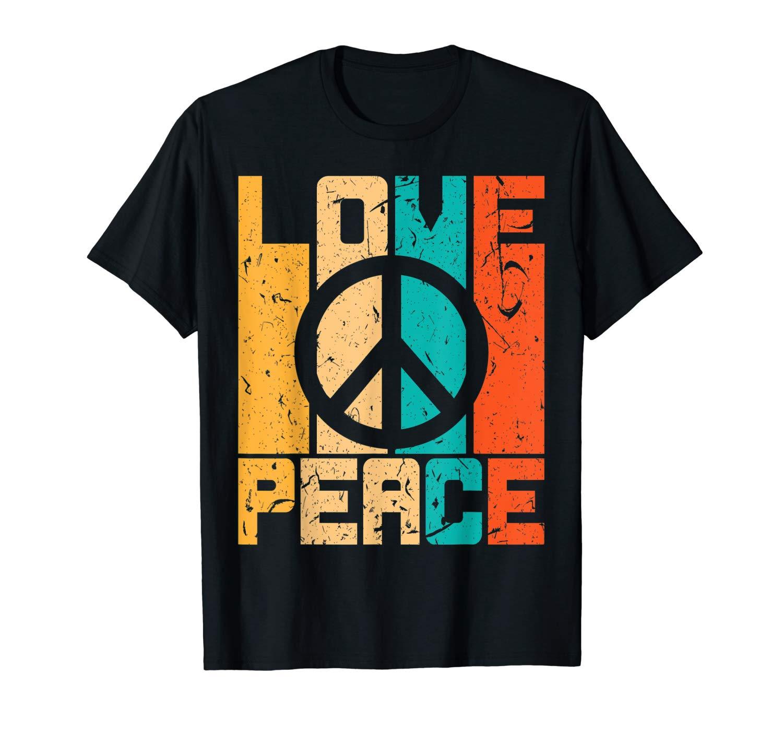 Love Peace Freedom Shirt 60s 70s Tie Hippie T Shirt Retro
