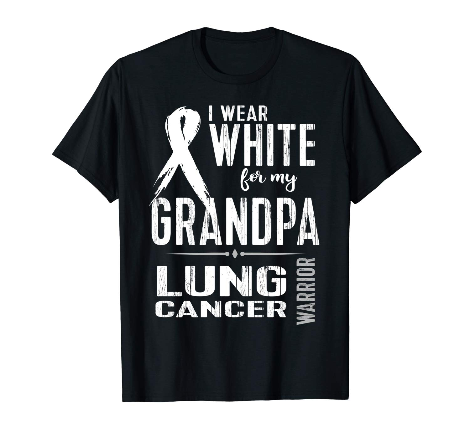 Lung Cancer Awareness Tshirt Wear For Grandpa Tee