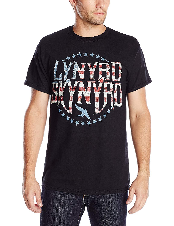 Lynyrd Skynyrd Stripes And Stars Vintaged Logo T Shirt