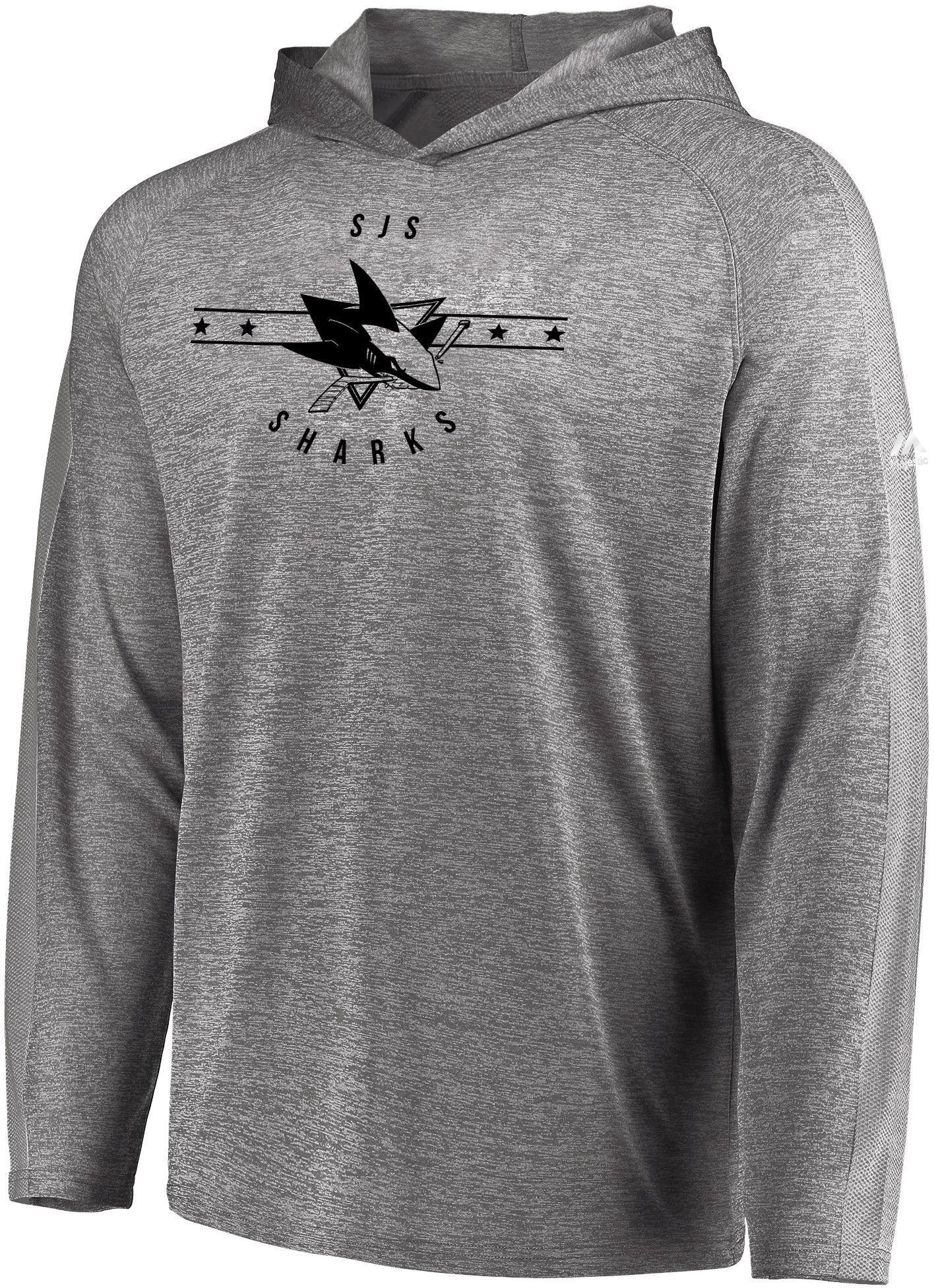 Majestic Men S San Jose Sharks Fan Flow Heather Grey Size Smal Shirts