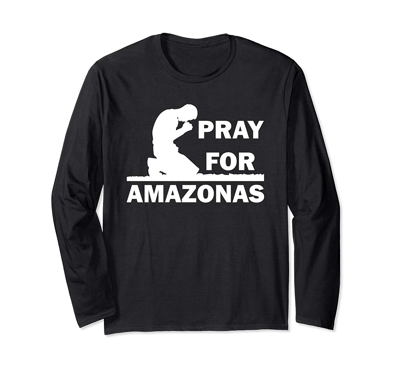 Man Praying For Brazil And Amazonas T Shirt