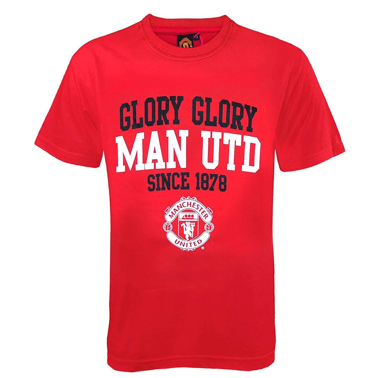 Manchester United Football Club Soccer Gift Graphic Red Shirts