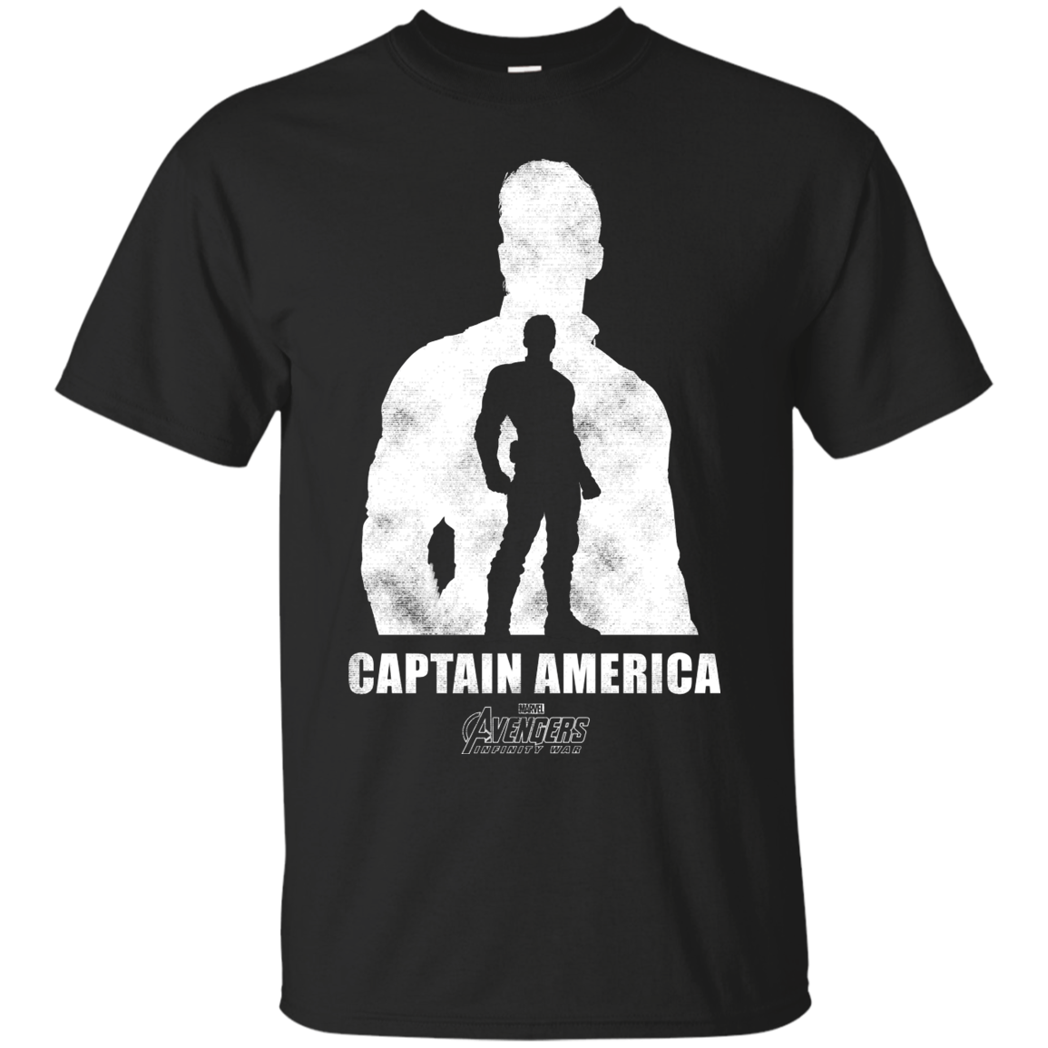 Marvel Infinity War Captain America Cutout Graphic T Shirt T Shirt For