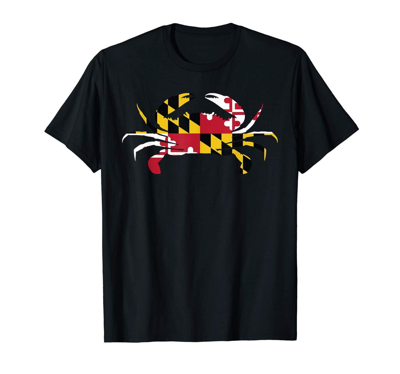Maryland Crab State Pride Flag T Shirt