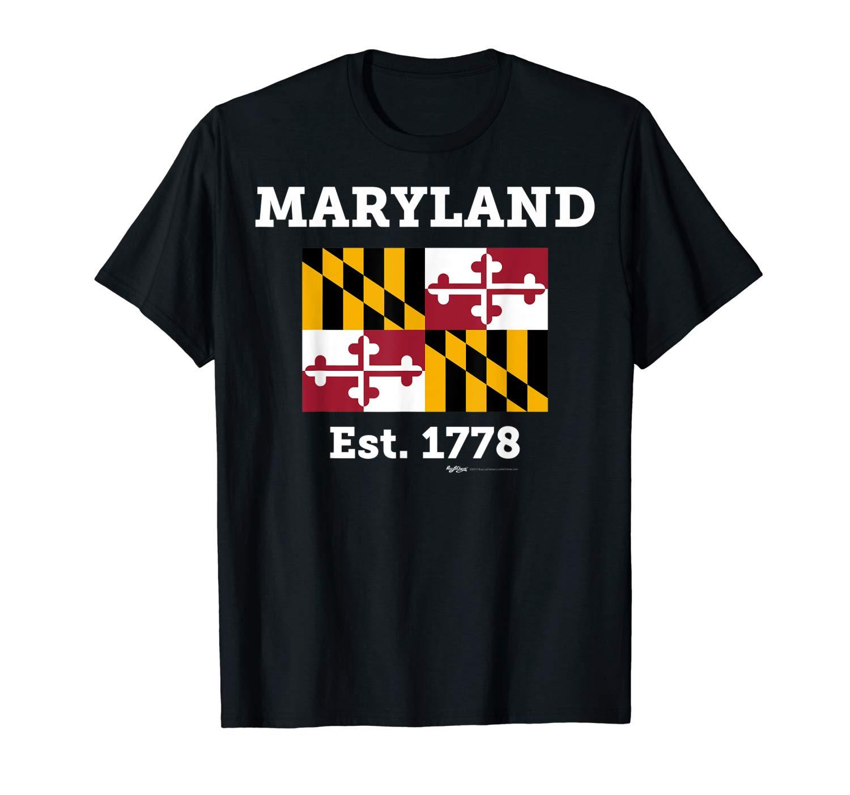Maryland Est 1778 State Flag T Shirt