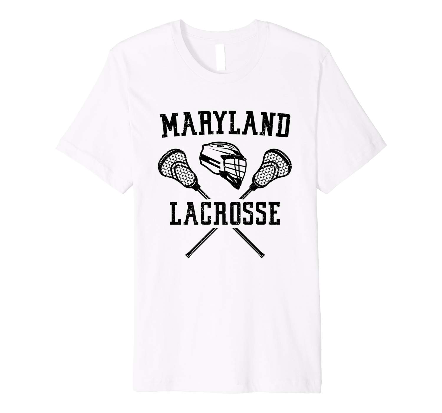 Maryland Lacrosse Player Gift Lax Sport Vintage State Gift Premium T Shirt