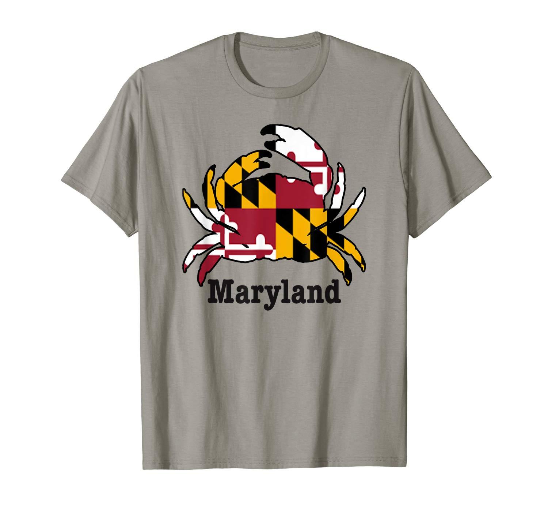 Maryland State Flag Crab Shirt Fun Family T Shirt