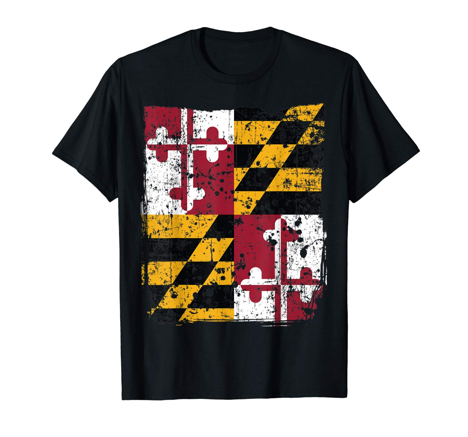 Maryland State Flag Faded Flag Of Maryland T Shirt