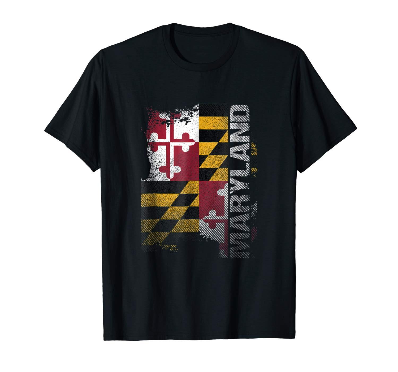 Maryland State Flag Souvenir T Shirt