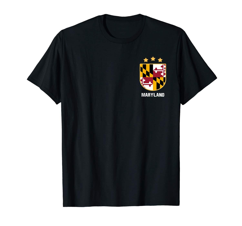 Maryland T Shirt Maryland Flag Shirt