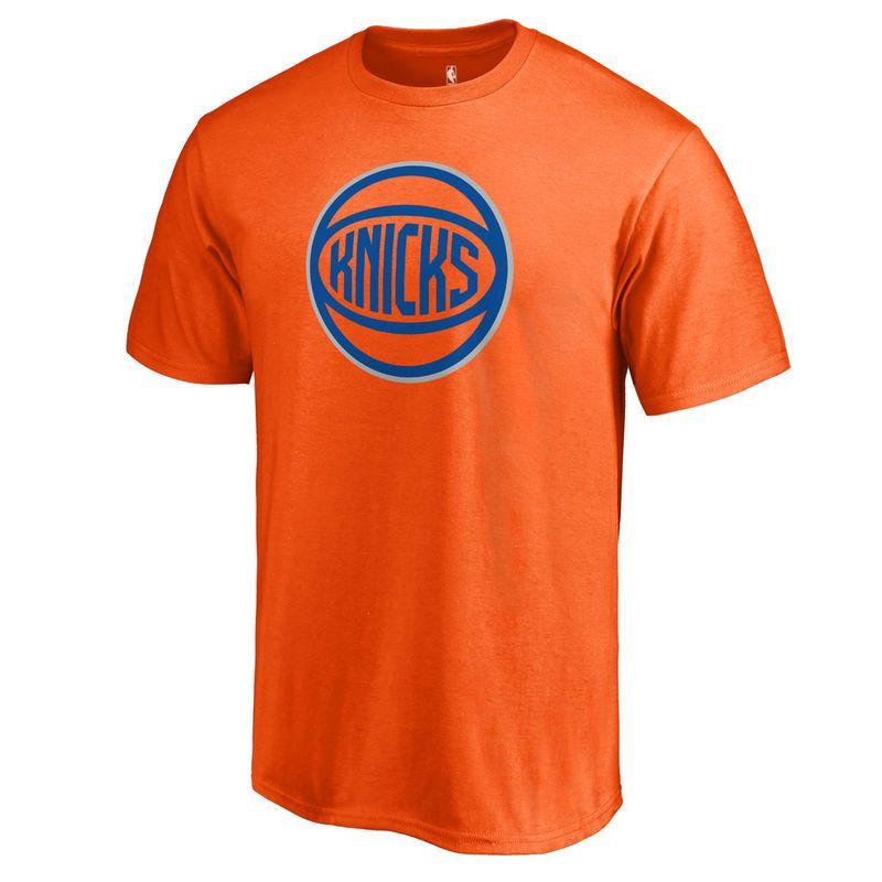 S Fanatics Branded Orange New York Knicks Alternate Logo Shirts
