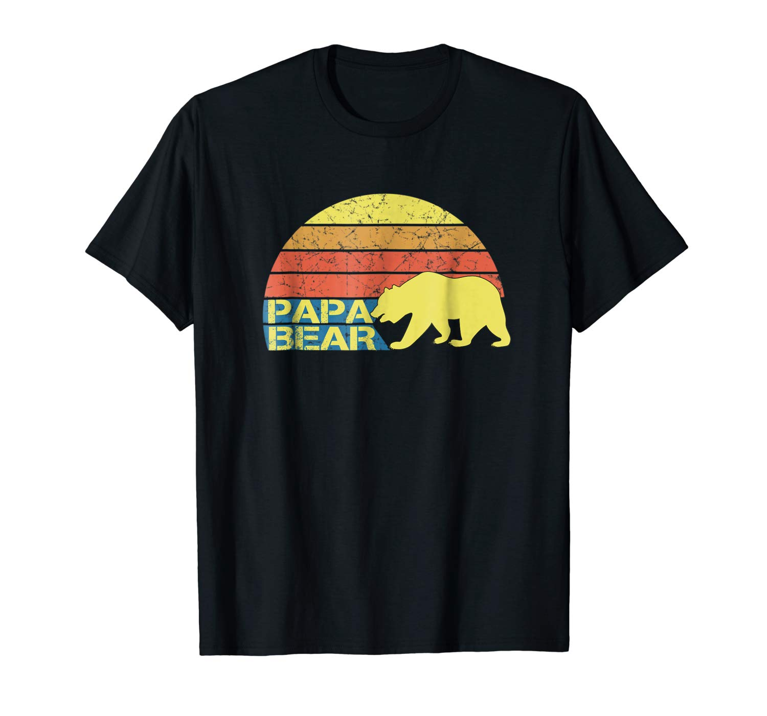 S Retro Papa Bear T Shirt For Dads Tures A Vintage Design