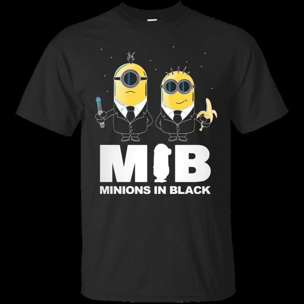 Mib Minions In Black T Shirt