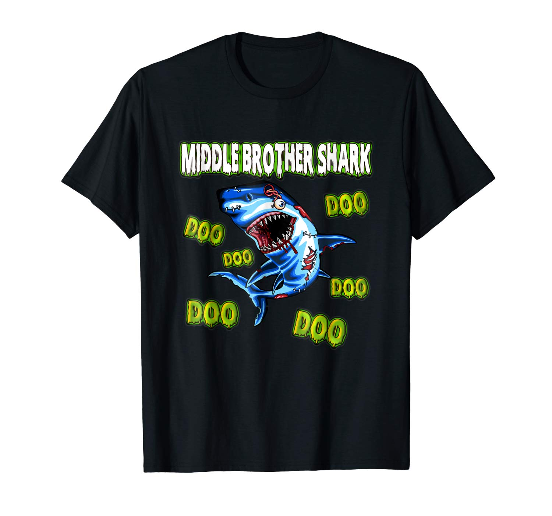 Middle Brother Shark Doo Doo Doo Zombie Halloween Shirt