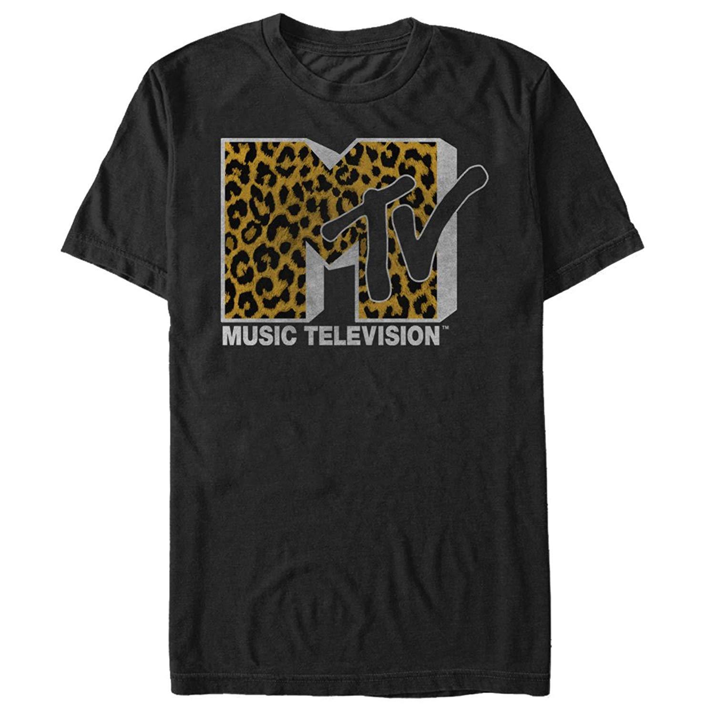 Mtv Cheetah Print Logo S Graphic T Shirt