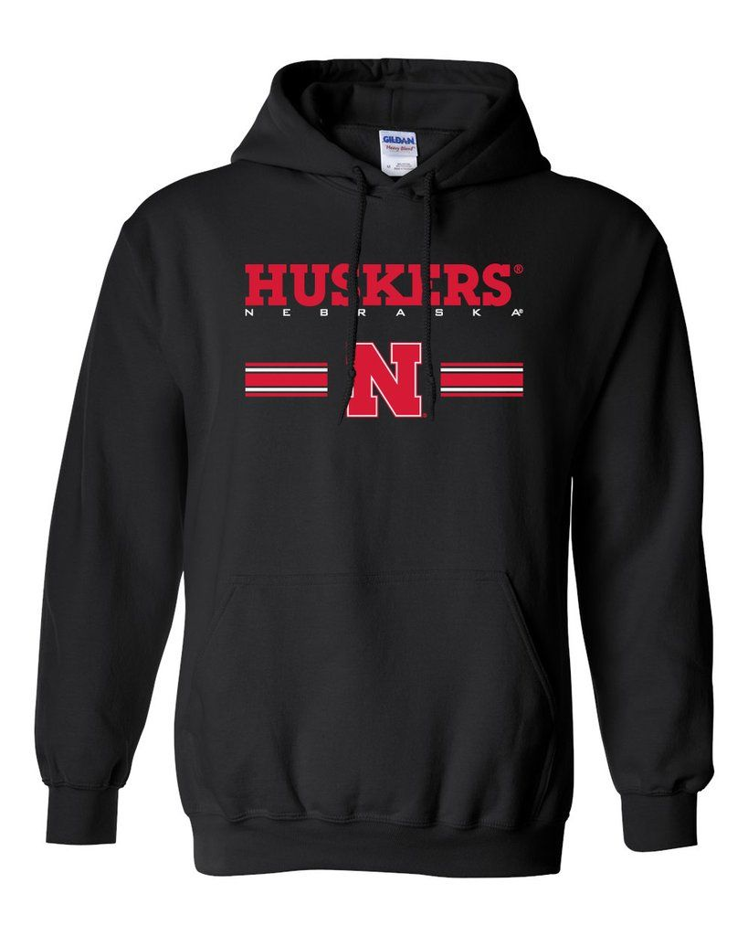 Nebraska Husker Hooded Huskers Stripe N Shirts