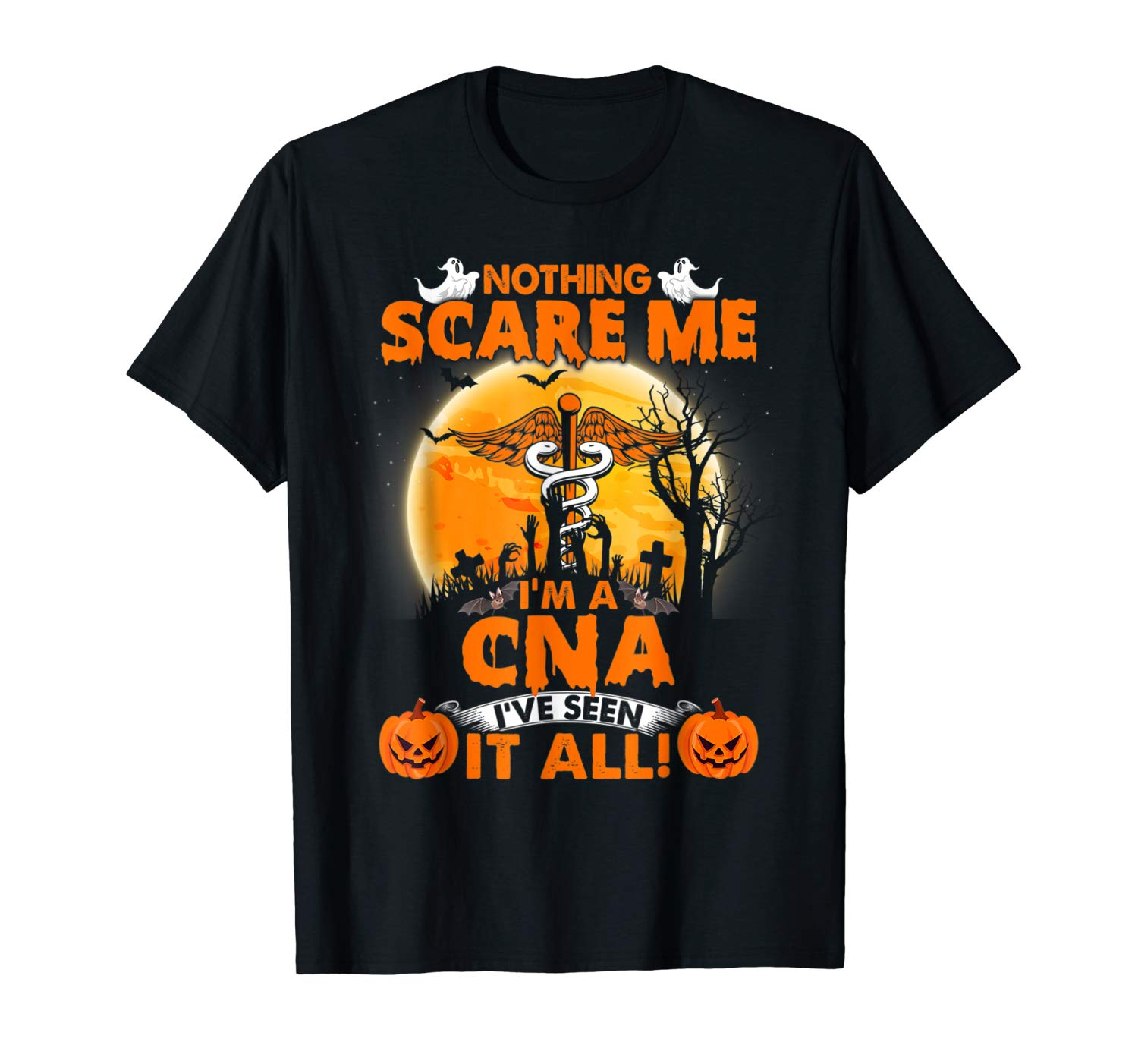 Nothing Scare Me I M A Retired Cna Halloween Shirt T Shirt