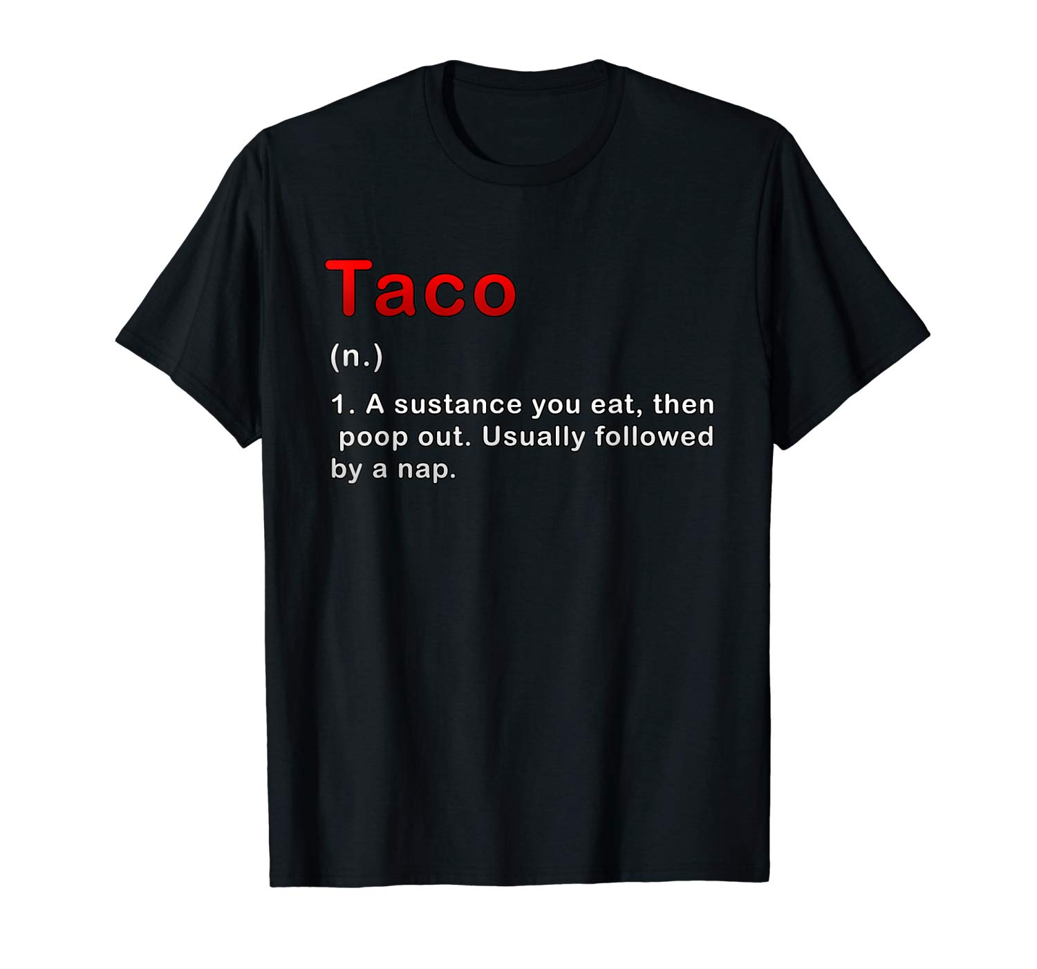 Offensive Tacos Dictionary Definition T Shirt For Food Lover