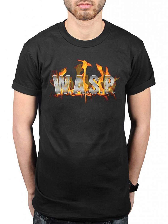 Wasp World Domination T Shirt Flaming Logo Fire Heavy Metal Band