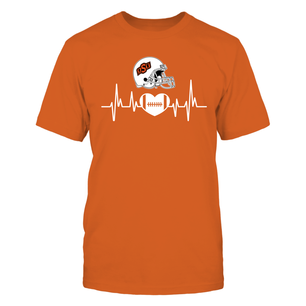 Oklahoma State Football Heartbeat T Shirt Osu Official ...