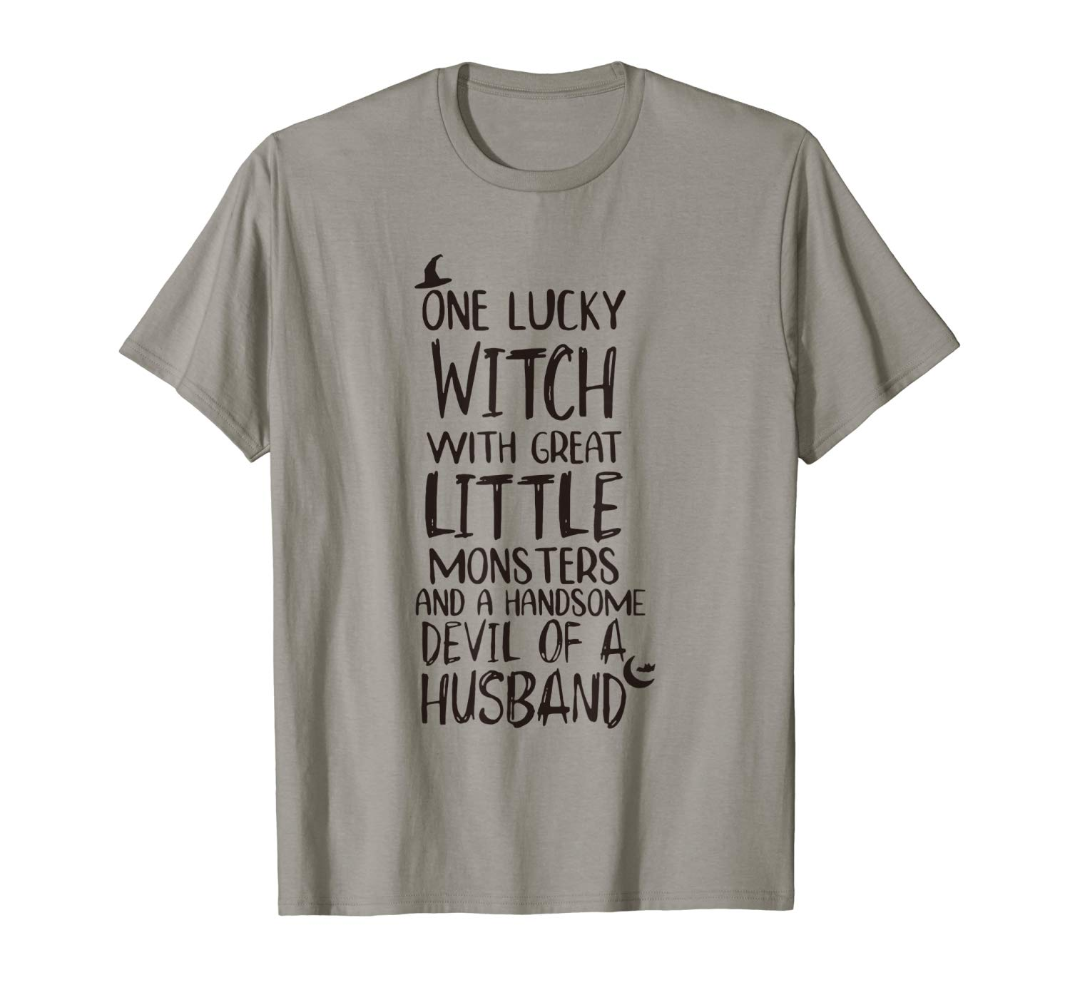 One Lucky Witch With Great Little Monsters Halloween Gift T Shirt