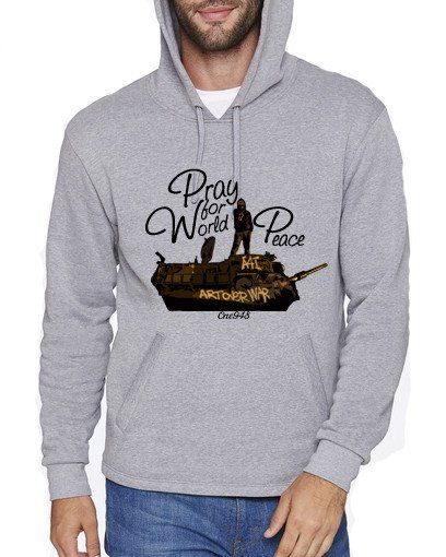 One948 Israel Jewish Themed Apparel Unisex Art Over War Hooded One948 X Art Shirts