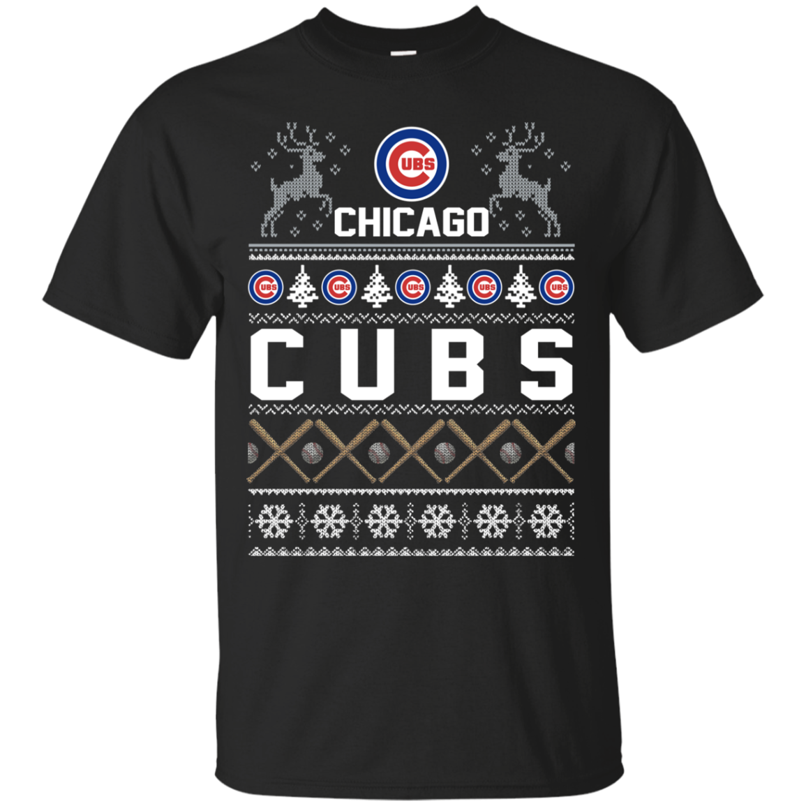 Order Chicago Cubs Ugly Christmas T Shirt