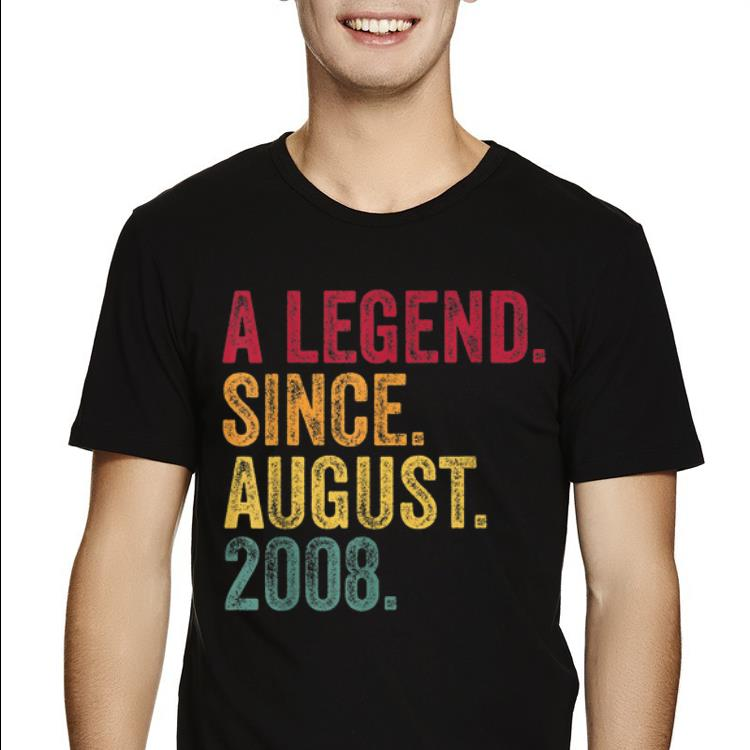 Original Born In August 2008 11th Birthday A Legend Awesome Trending Birthday Shirts