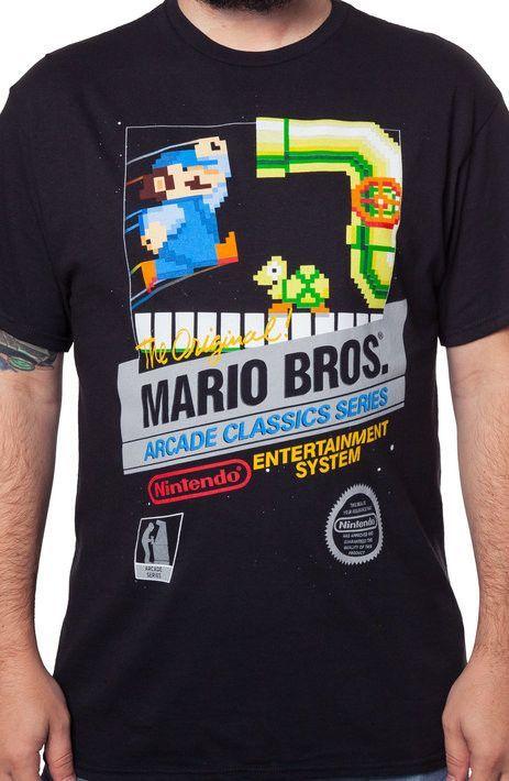 Original Mario Bros Cartridge Nintendo Shirts
