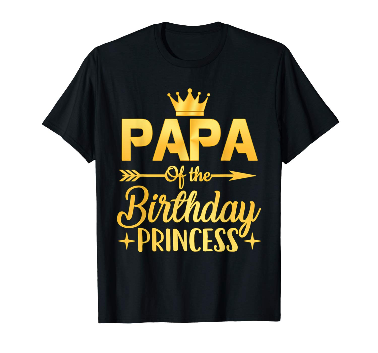 Papa Of The Birthday Princess T Shirt Father Mother Gifts