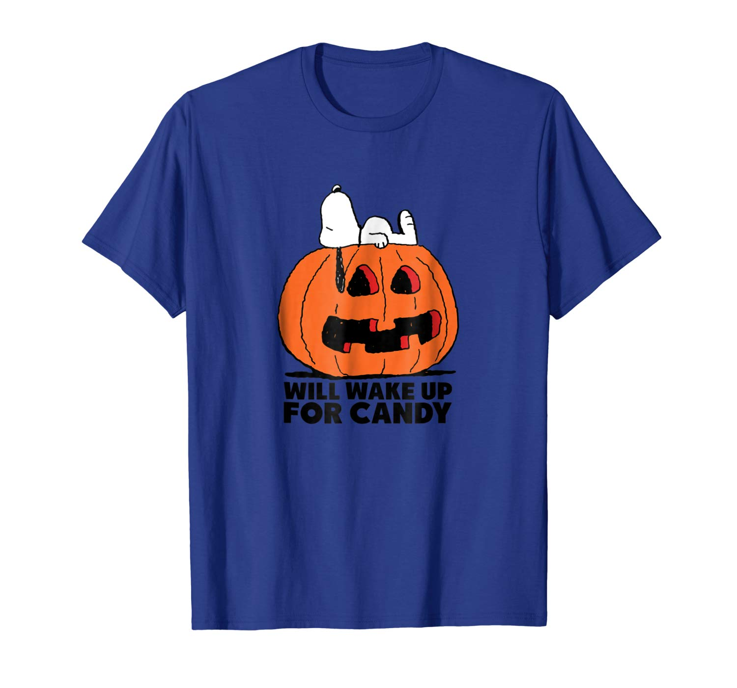 Peanuts Halloween Snoopy Wake For Candy T Shirt