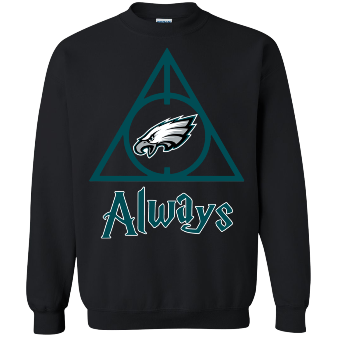 Philadelphia Eagles Always Harry Potter Deathly Hallows G180 Crewneck Pullover Swea Shirts