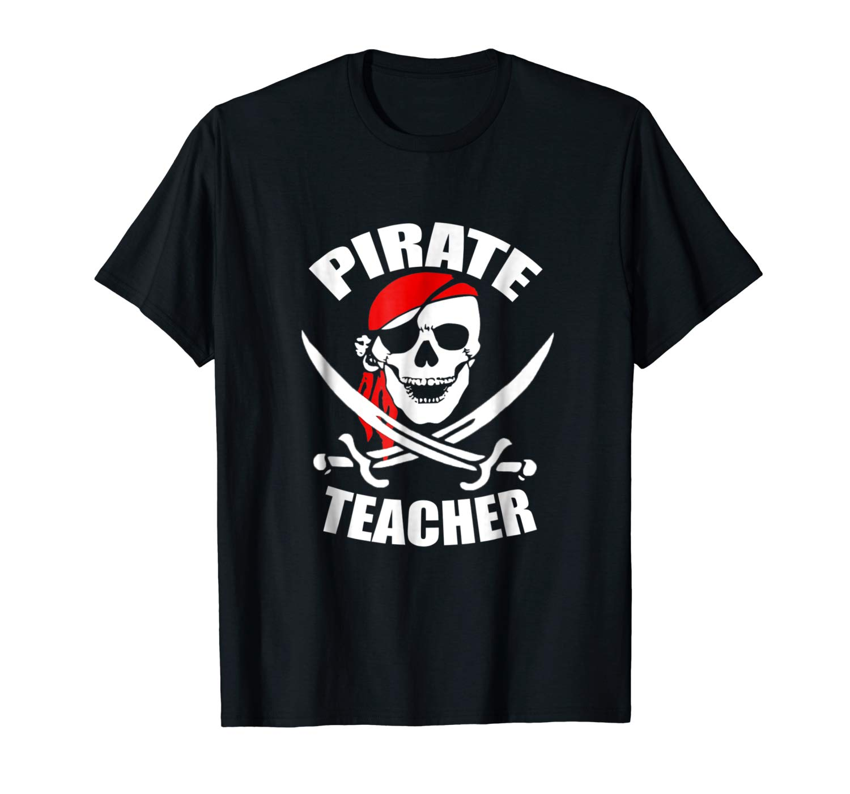 Pirate Skull Tea Shirt Funny Halloween Shirt