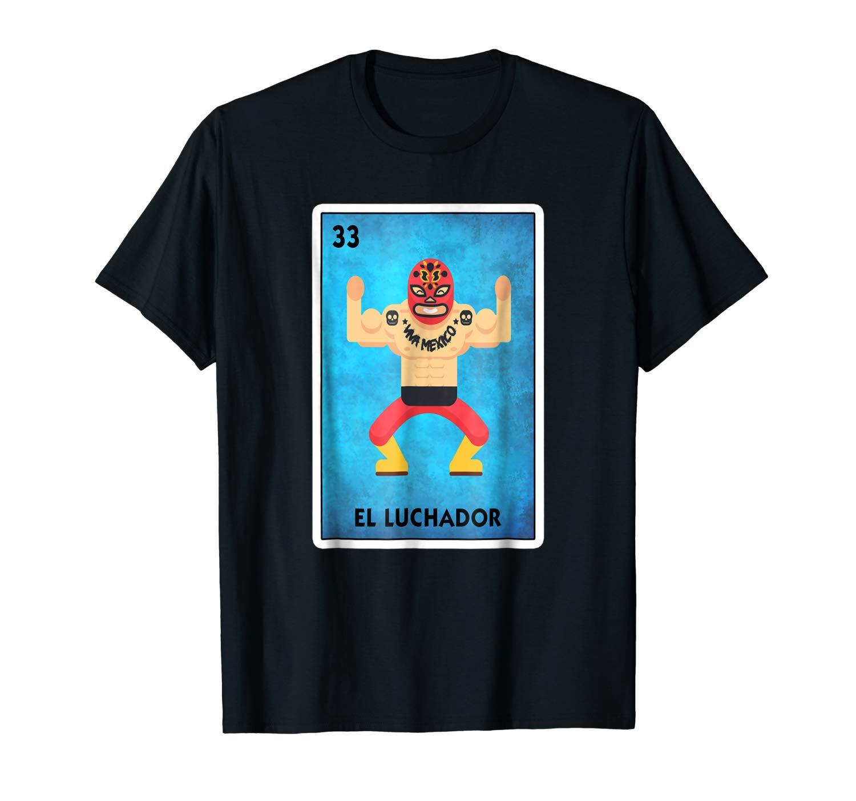 Playera De Lucha Libre Mexicana El Luchador Loteria Shirts