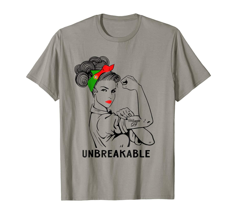 Portuguese Girl Unbreakable T Shirt Heritage Portugal Flag