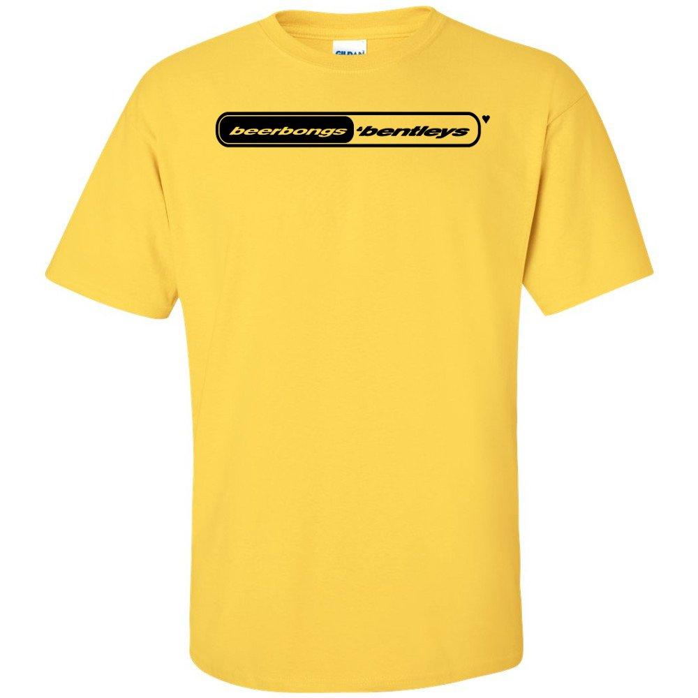 Post Malone Beerbongs Bentleys Logo T Shirt Stoney B B Yellow