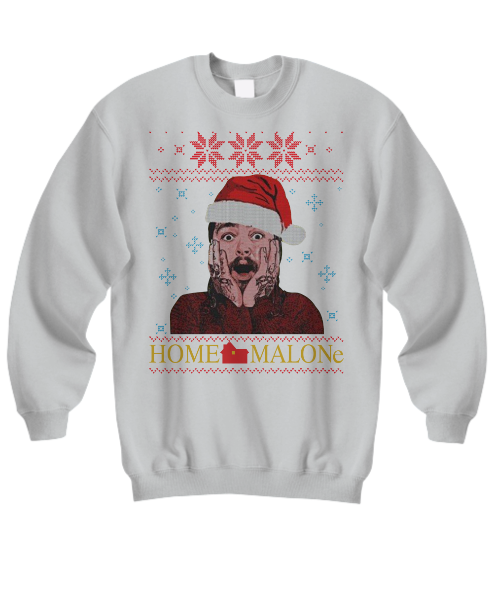 Post Malone Home Malone Ugly Christmas Sweater Shirt