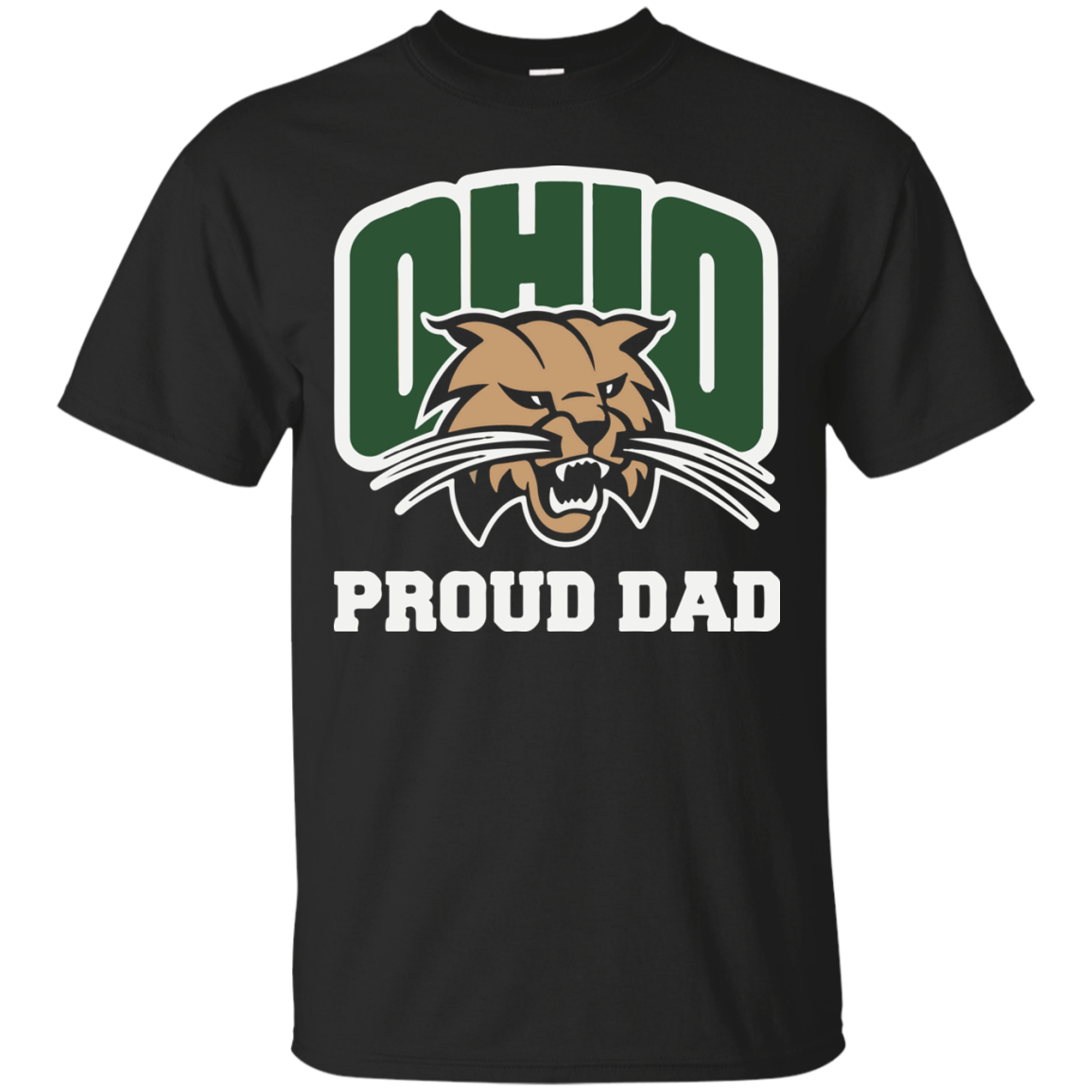 Proud Dad Ohio University Bobcats Father Shirt T Shirt