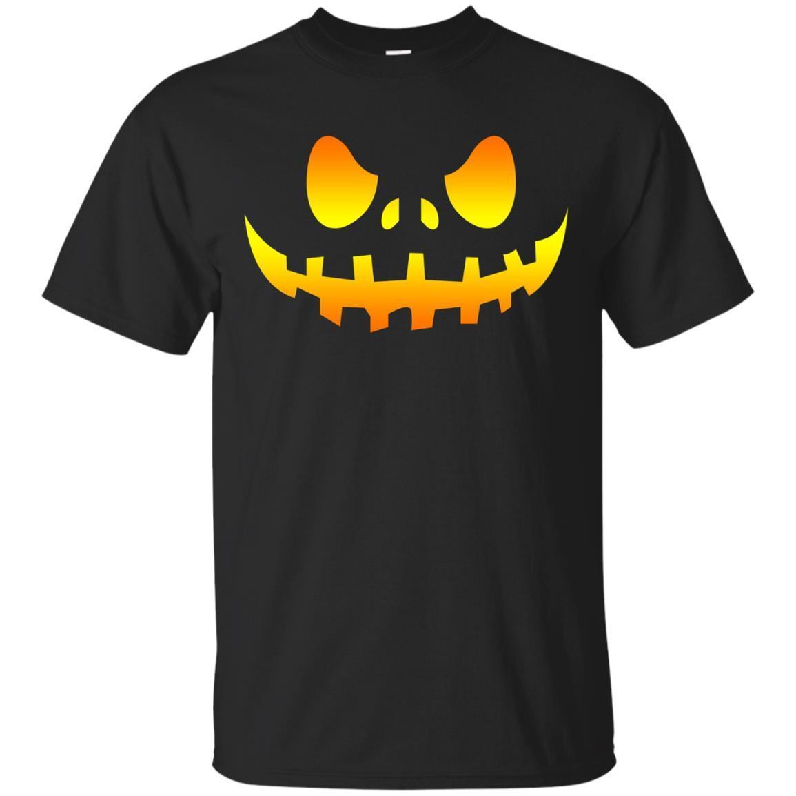 Pumpkin Face T Shirt Halloween Gifts Jack O Lantern