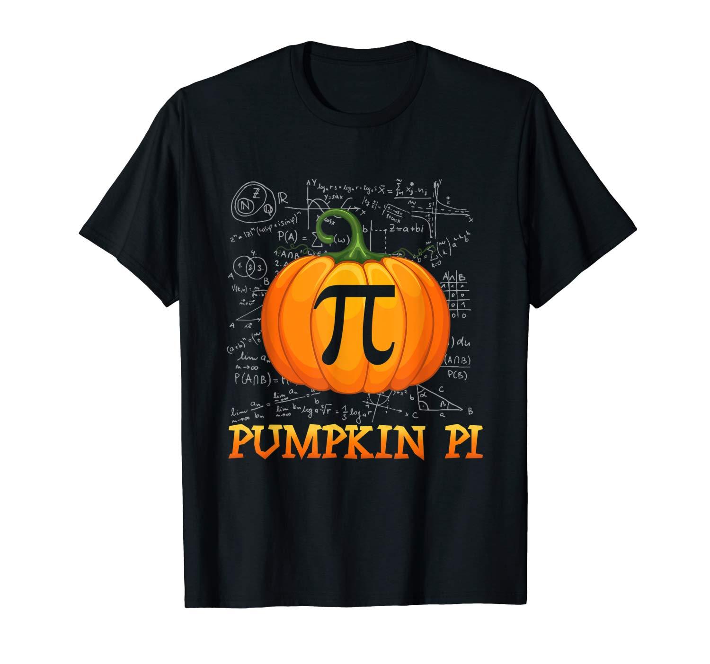 Pumpkin Pi Shirt Halloween Math Tee Gifts For Tea T Shirt