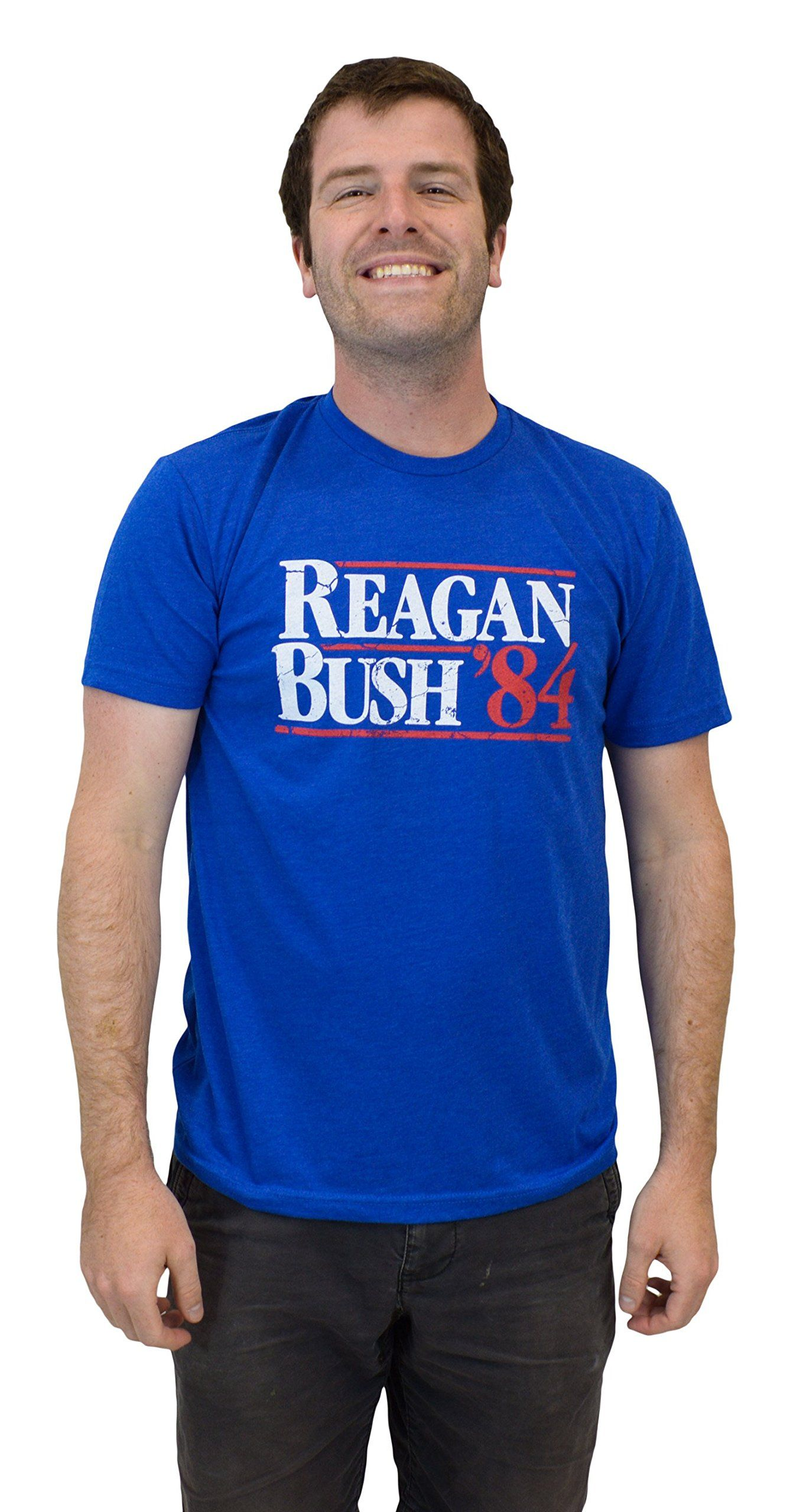 Reagan Bush 84 Vintage Style Conservative Republican Gop Unisex Adult S Shirts