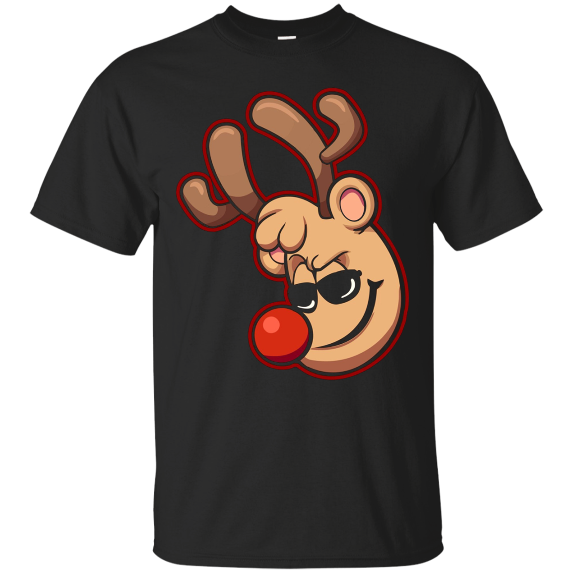 Reindeer Boy With Sunglasses Shirts