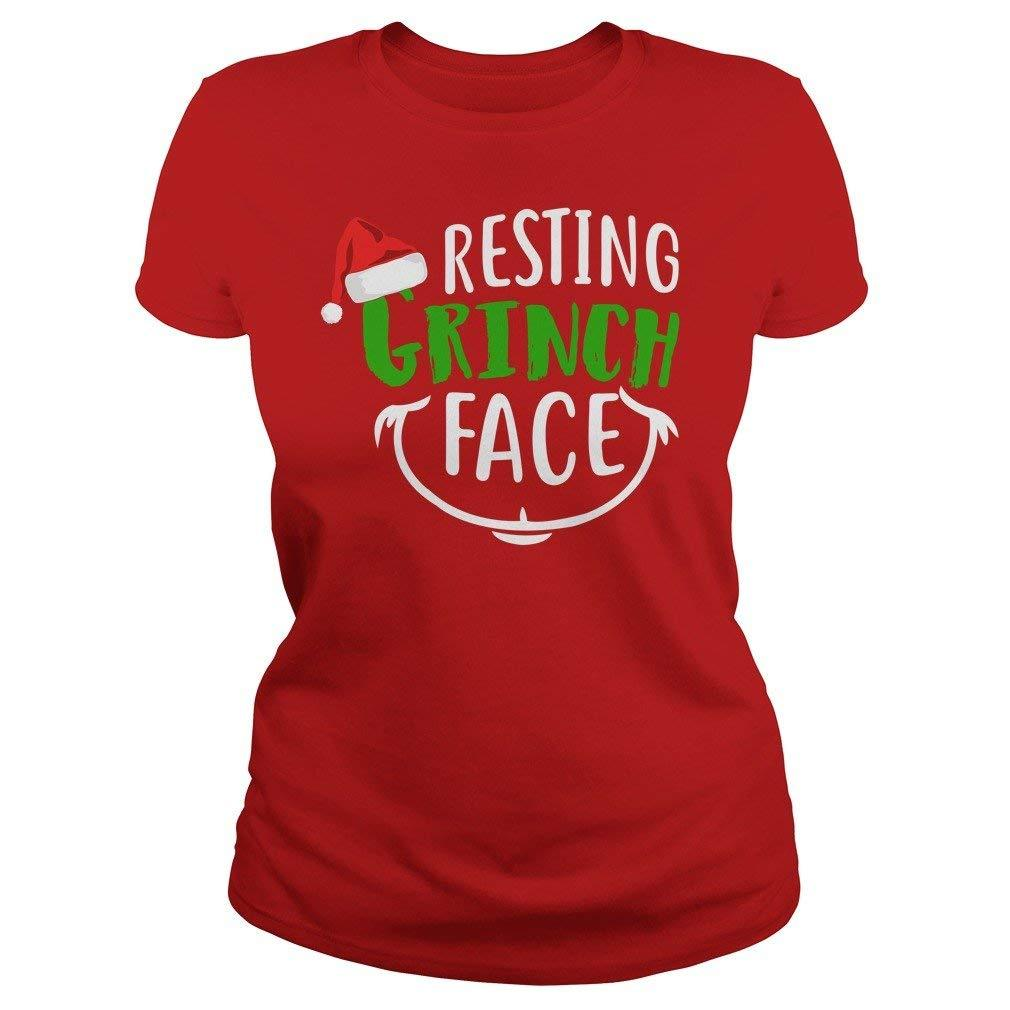 Resting Grinch Face Christmas Holiday T Shirt Christmas Xmas Shirts Gifts